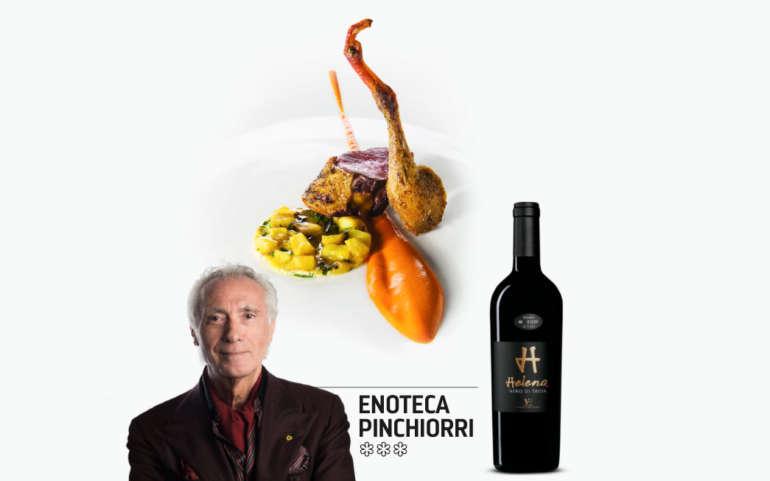 Enoteca Pinchiorri: doppio petto di piccione, pesto di peperoni e frittatina di erbe