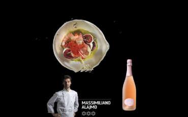 Alajmo: Gamberi rossi con pistacchio e arancia