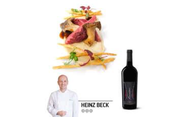 Heinz Beck: Piccione con scorzanera e cardoncello al fieno