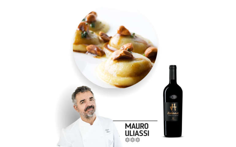 Mauro Uliassi: Wild game potato ravioli